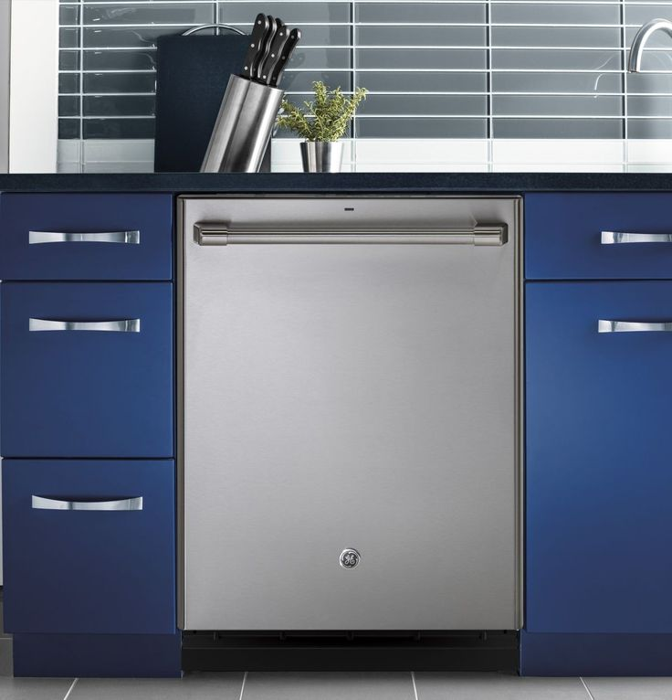 """GE Cafe 24"""" Stainless Steel Fully Integrated Dishwasher"""