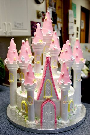 Фото торта замок