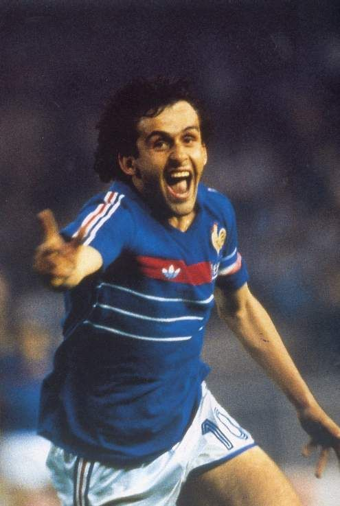 Michael Platini.  National team: France  Born: April 7, 1946   Position: Striker  Clubs: French National team.