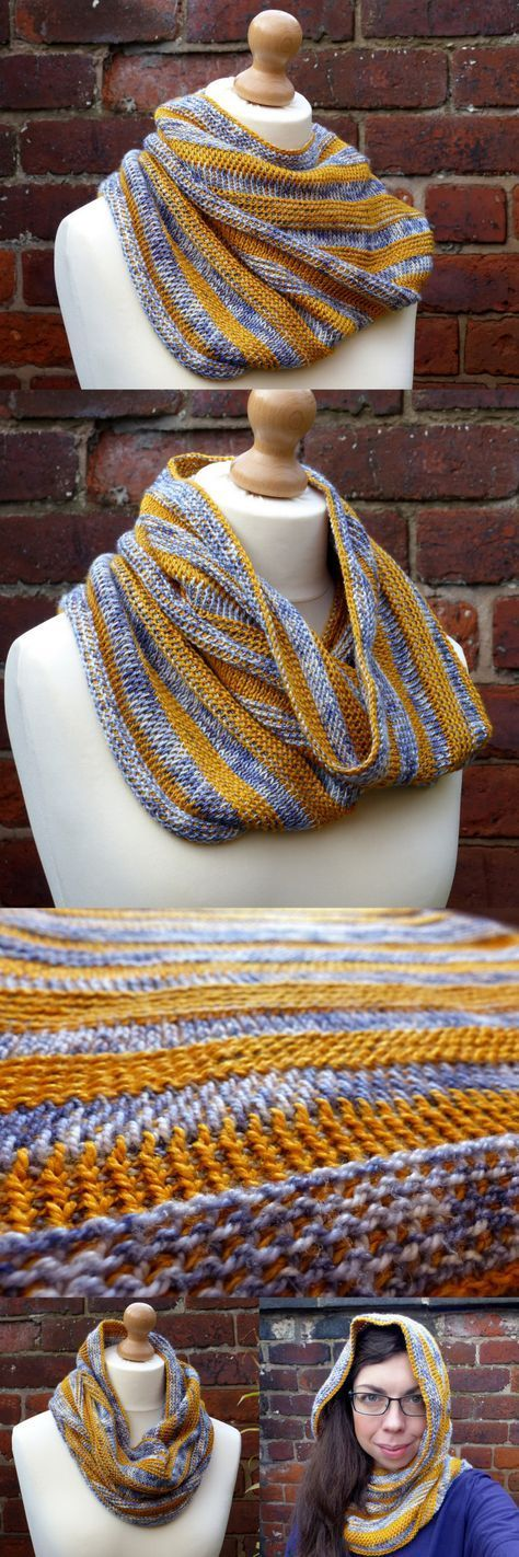 Strata Cowl - free crochet pattern by Make My Day Creative - Tunisian Crochet #CrochetScarf