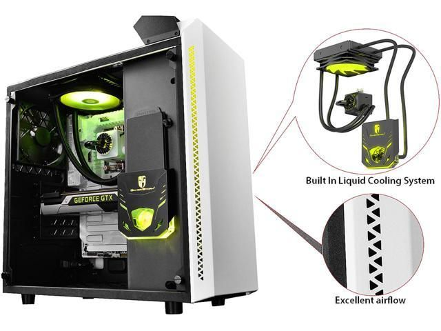 Deepcool Gamer Storm Baronkase Liquid White Atx Mid Tower With
