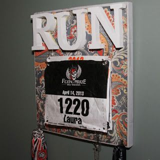 Simply Healthy: DIY Race Bib and Medal Display Savanna Lake Kasey Jones
