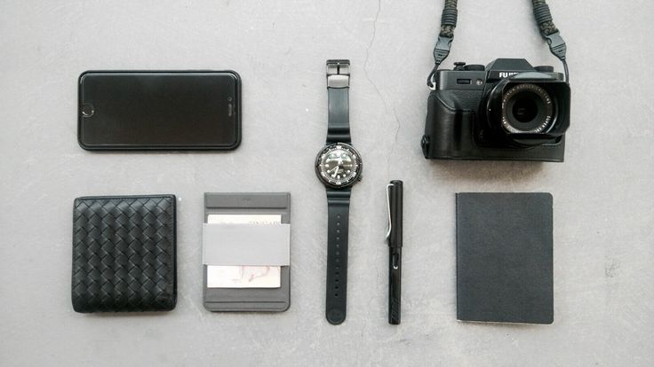 Monotone  submitted by Jexter Lim  Apple iPhone 6 Plus  Bottega Veneta Nero Intrecciato VN wallet  Fujifilm X-T20 Mirrorless Digital Camera w/XF18-55mmF2.8-4.0 R LM OIS Lens - Silver  mag wallet  Seiko Mens PROSPEX Marinemaster Professional Diver Watch SBBN035  Lamy Safari Fountain Pen  Muji Notebook  90% Black. Got a gray Mag wallet it's slim and configurable the perfect wallet for travel. http://ift.tt/2vm5FIG