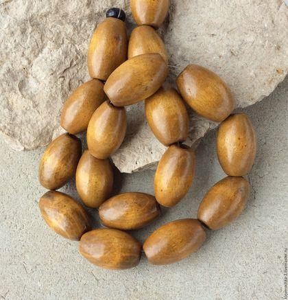 Для украшений ручной работы. Ярмарка Мастеров - ручная работа. Купить Бусины 25 мм челнок деревянные бусины для украшений. Handmade.