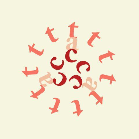 """cat"" from kotobana / flower / typography / web design"