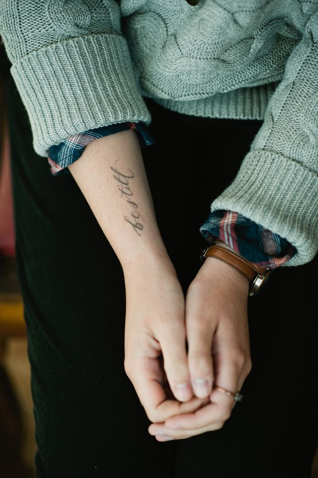 This calligrapher Mara from neither snow is absolutely talented. Love how simple and delicate this tattoo is.