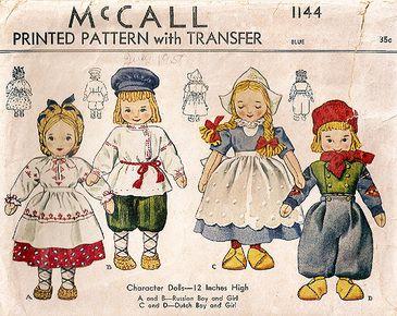 Dutch dolls pattern