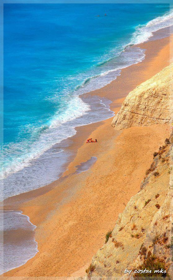 Breathtaking Egremnoi beach, Lefkada island ~ Greece