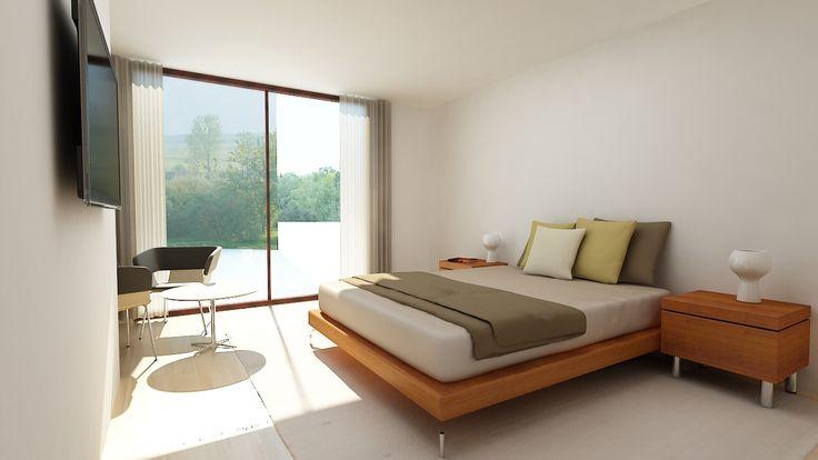 Modelado y Render de dormitorio