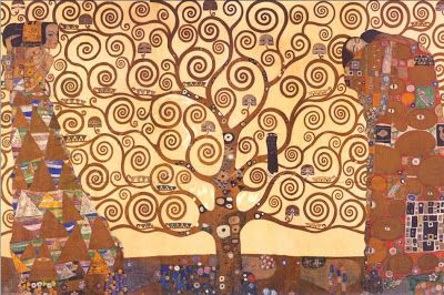 The Tree of Life, 1909. Gustav Klimt | A History of Graphic Design: Chapter 27 - Gustav Klimt, and the Vienna Secession Movement