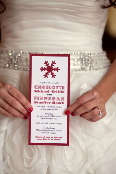 Christmas wedding-no directions, but could easily DIY this invitation