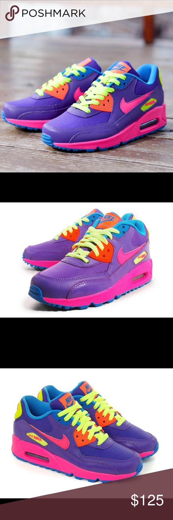 NIKE AIR MAX 90 SHOES SIZE 7.5 SHOES Shoes are a size 6 youth. Which is a women's size 7.5. I posted a sizing chart for your convenience. Brand new without box. 100% authentic Nike Shoes Sneakers