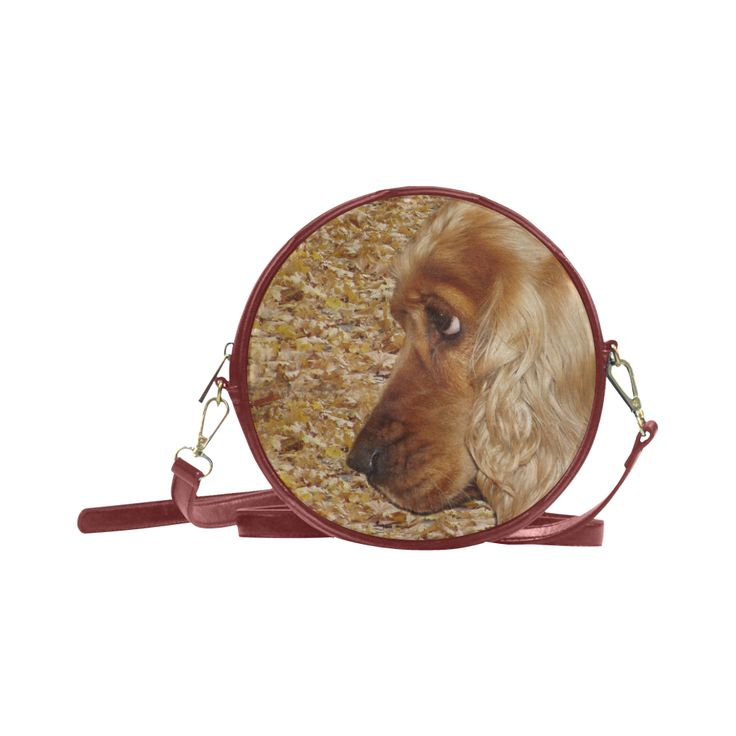 Dog Cocker Spaniel Round Messenger Bag (Model 1647)