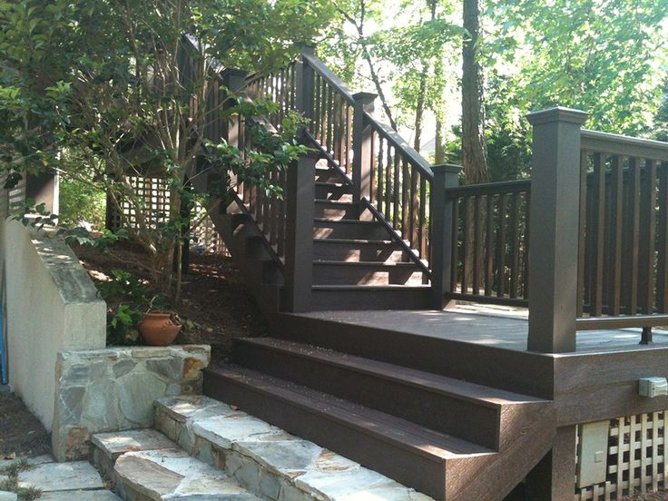 We Love This Shaded Stairway Using Trex Decking And