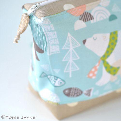 Polar bear print wash bag tutorial 1   Blogged at Torie Jayn…   Flickr