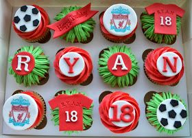 Little Paper Cakes: 18th Birthday Cupcakes for Liverpool FC fan Ryan
