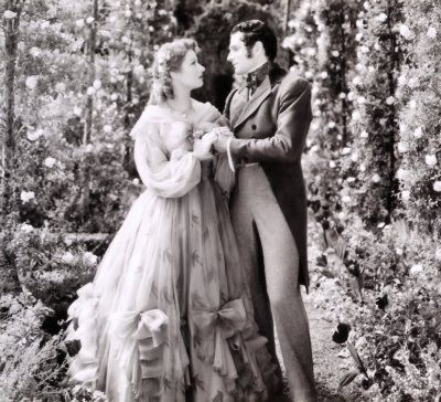 Greer Garson & Laurence Olivier {in the first movie version of Pride and Prejudice}.  Based on a play that was not completely accurate.