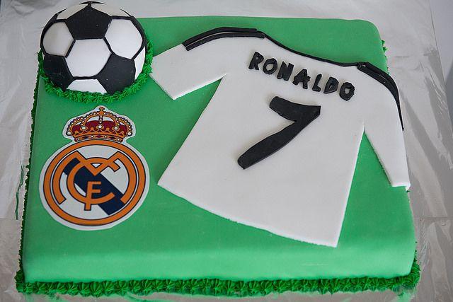 Boys Birthday Cake Football Ronaldo Soccer Flickr