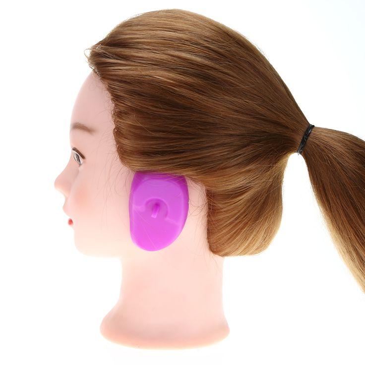2ピース耳カバーペアヘアサロンシリコーンゴム髪染料シールドソフトイヤーマフ保護色ヘアカラースタイルツール
