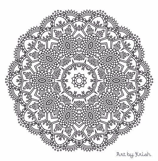 215 printable intricate mandala coloring pages krishthebrand - Intricate Mandalas Coloring Pages