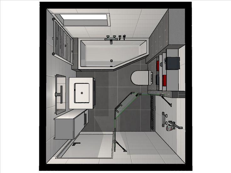25 beste idee n over kleine badkamer indeling op pinterest moderne kleine badkamers kleine - Idee badkamer kleine ...