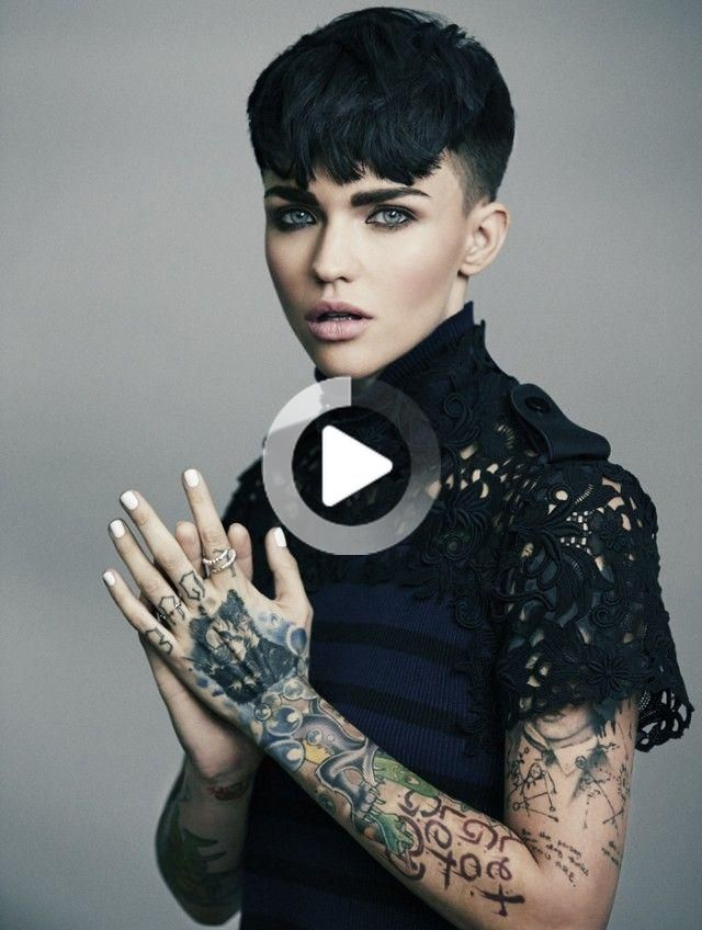 Meet Orange Is The New Black S Gorgeous New Inmate Ruby Rose Black Haircut Styles Hair Styles Womens Hairstyles