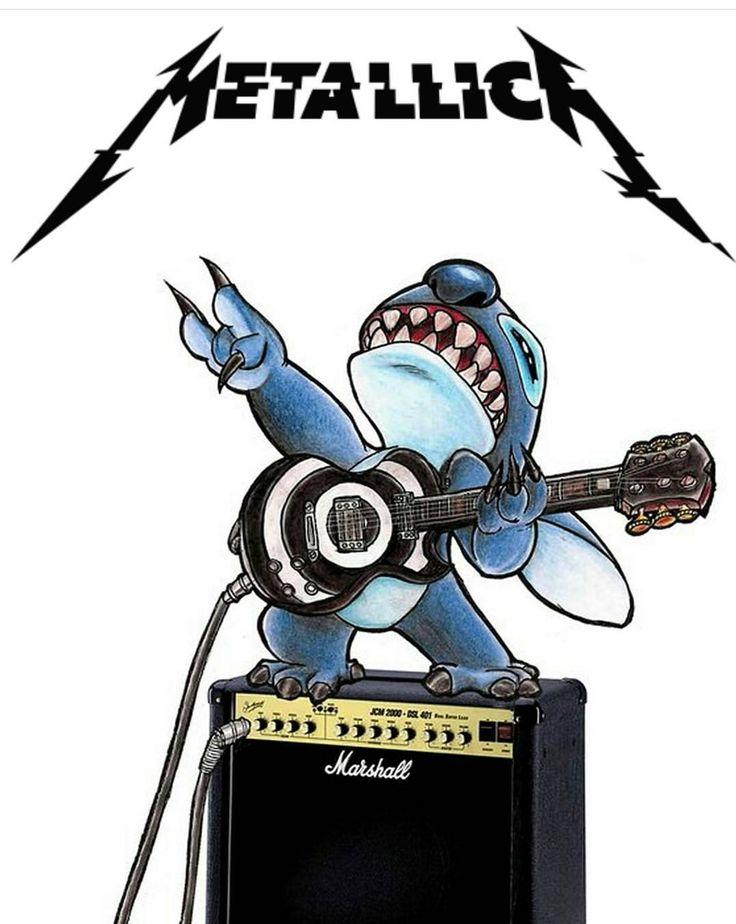 Stitch y el concepto de metallica -grupo que también les gusta.