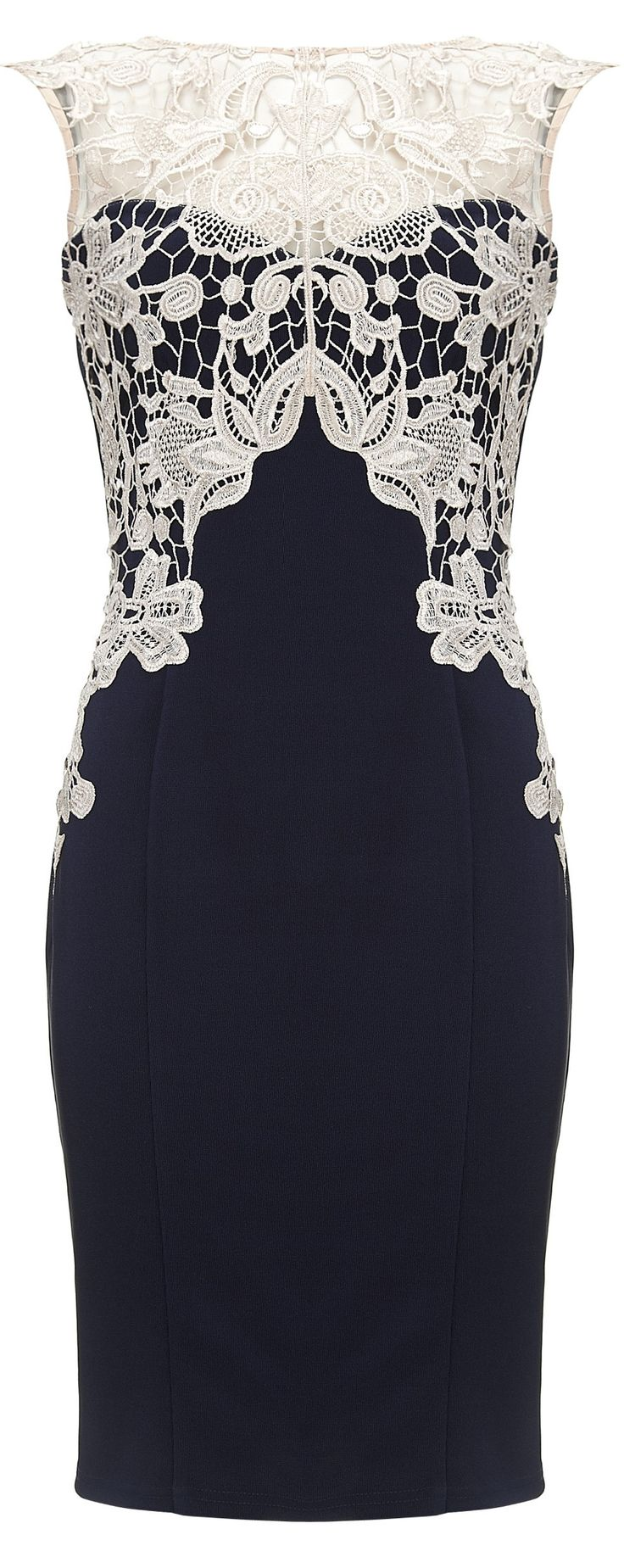 You can wear this lacy dress from Lipsy for smart casual.
