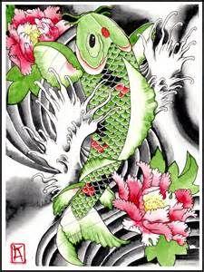 Green koi fish tattoo designs bing images tat for Green koi fish