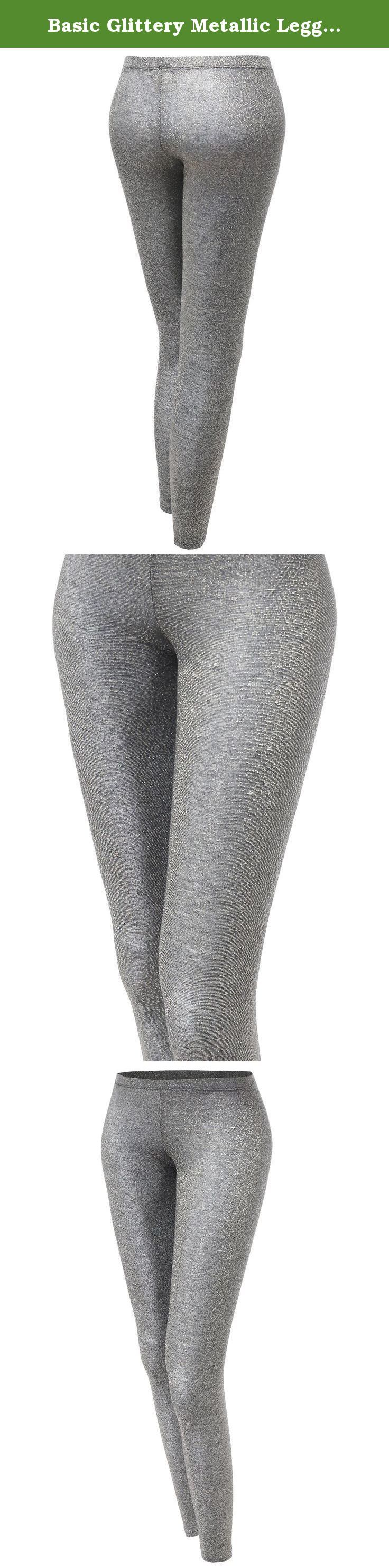 Basic Glittery Metallic Leggings Silver Size S. Awesome21 is a company which carries professionally in womenswear. We specialize in basic to trendy items which will interest all the ladies and women looking for casual or stylish and unique clothes with quality fabric. If metallic shiny leggings are too bright for you and you want to get legging that has a little shine into it, this is a perfect match. When we meet people who think metallic shiny leggings are too much, we recommend this…
