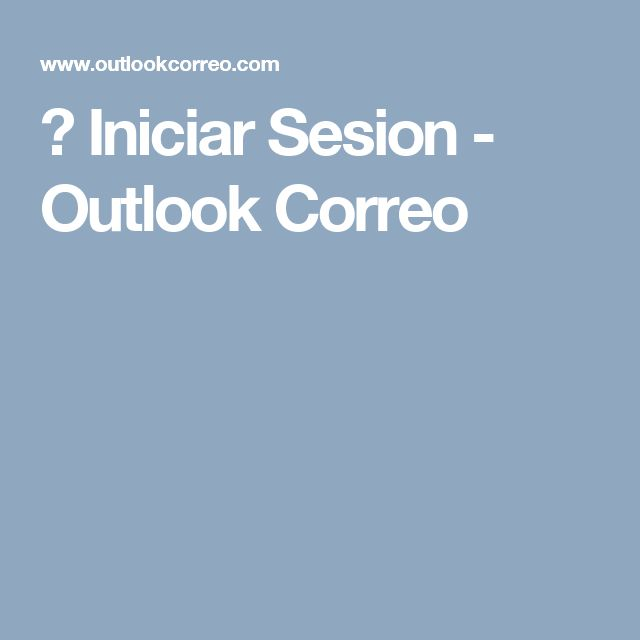 📱 Iniciar Sesion - Outlook Correo