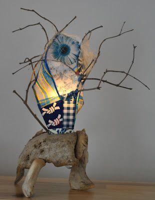 Lampe de bois de mer, driftwood lamp.