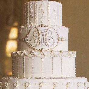 1920's Great Gatsby art deco monogram wedding cake