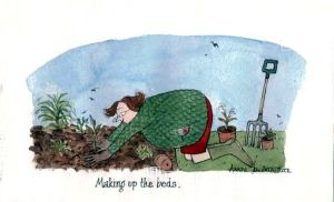 Making Up The Beds, Tottering-by-Gently by Annie Tempest - TroysArt.com blog