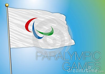 Vector file and illustration paralympic games flag, rio de janeiro, brazil, 2016