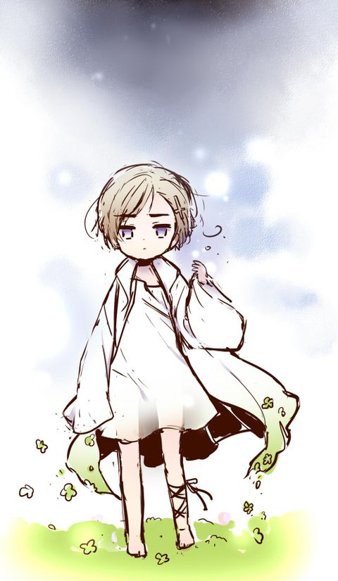 Hetalia - Norway This is such a pretty yet simple art! I love the background and the way the clothes fade into planty things at the end. It has an overall magical feel to it.