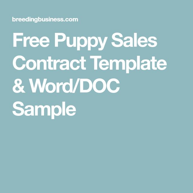 9 best Contracts images on Pinterest Template, Role models and - puppy sales contract