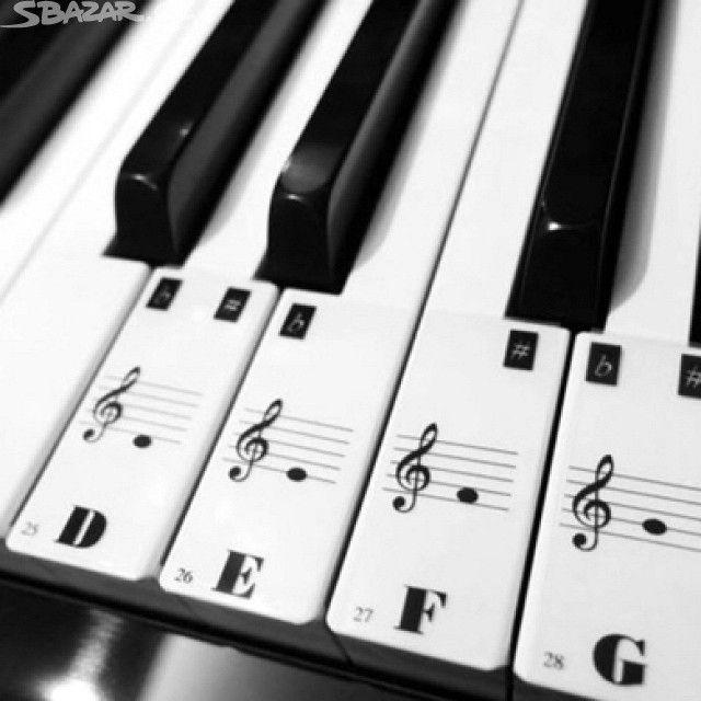 Noty na klavír, piano, keyboard, klávesy - obrázek číslo 1