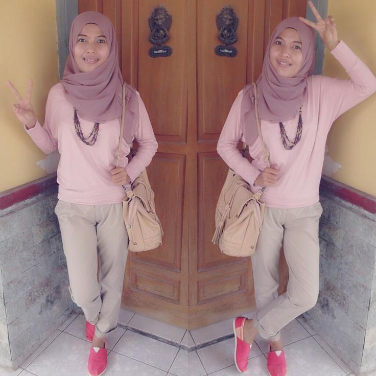 "hijab style with ""wakai"" shoes"