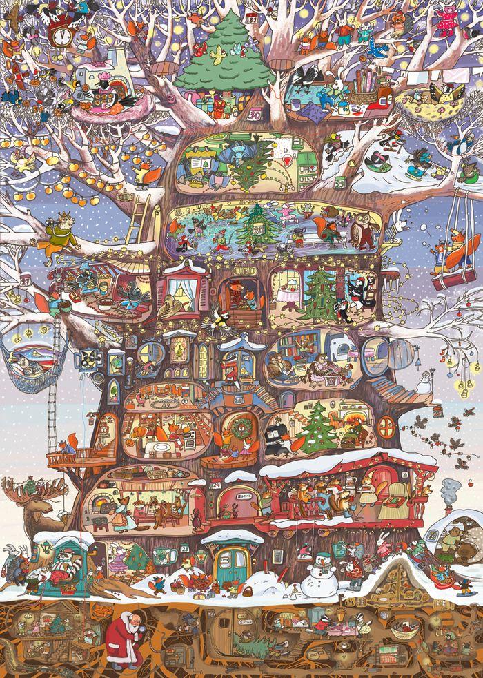 Просмотреть иллюстрацию Адвент-календарь «Как Дед Мороз шапку искал» из сообщества русскоязычных художников автора  Любовь Макарова в стилях: Детский, нарисованная техниками: Компьютерная графика.