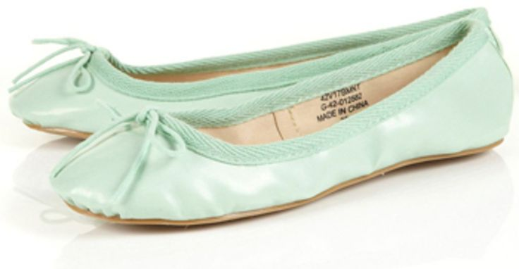 7. #Topshop Mint Green Ballet #Pumps - 8 Magnificent Mint Green #Fashions ... → #Fashion [ more at http://fashion.allwomenstalk.com ]  #Cable #Prints #Miu #Green #Knit
