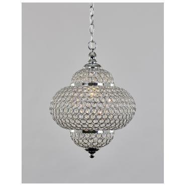 PRIS 1500,- Iselin taklampe Krom 30cm   Lampehuset