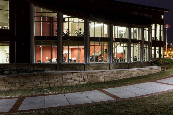 #Alvernia's Campus Commons at night!