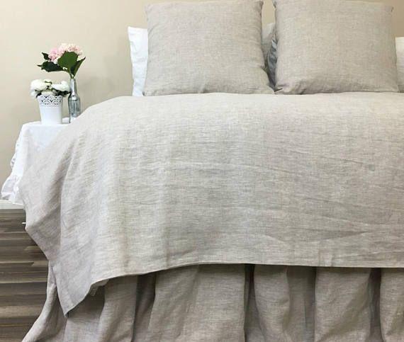 Natural Linen Duvet Cover In Medium Weight Linen Undyed Linen Etsy Linen Duvet Covers Linen Duvet Duvet Covers