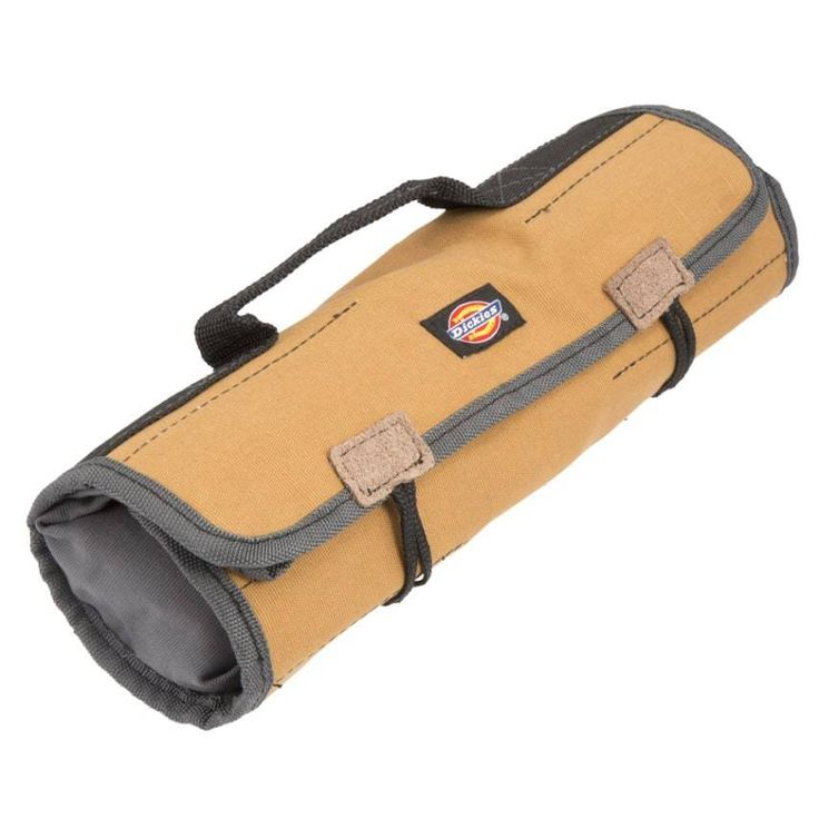 Grey Tan Large Wrench Roll Home Hand Tools Storage Pouches Bags Pockets Handl #DickiesWorkGear