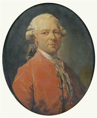 Portrait du peintre Jean-Pierre Houelà l'âge de trente-sept ans,1772 François André Vincent