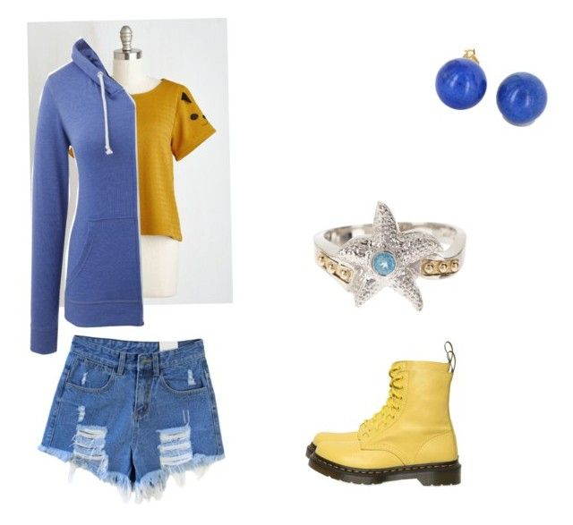 """""""FLONDER!!!(Disney style #7)"""" by pugshugs on Polyvore featuring Dani G Jewelry, Vintage and Dr. Martens"""