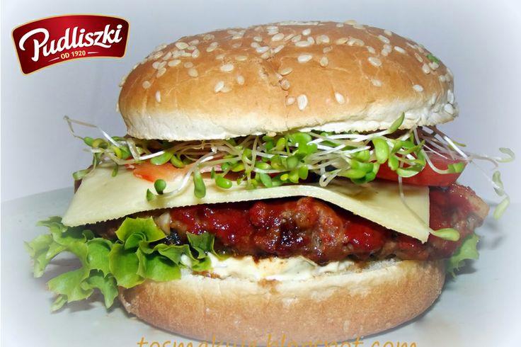 Pomidorowe hamburgery bez smażenia - pycha! #hamburger #pomidor #pudliszki #przepis
