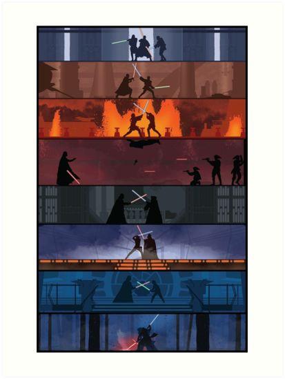 """Star Wars"" Art Prints by mscanla0   Redbubble"