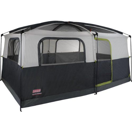 Coleman Prairie Breeze 9-Person Cabin Tent, Black and Grey Finish >>> MORE INFO @: http://www.best-outdoorgear.com/coleman-prairie-breeze-9-person-cabin-tent-black-and-grey-finish/